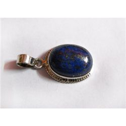 Natural 23.50 ctw Lapis Oval Pendant .925 Sterling