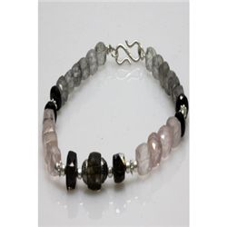Natural 112.70ct Semi Precious Bracelet .925 Sterling