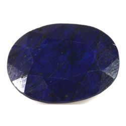 Natural African Sapphire Loose 25ctw Oval Cut