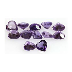 Natural Amethyst 4.18 Heart Shape ctw