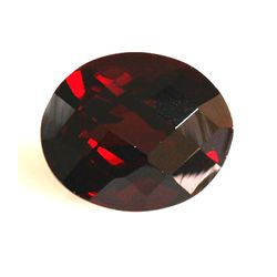 Natural Garnet 4.35 ctw Oval checkered 11x9mm