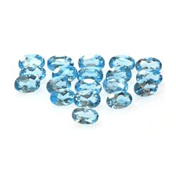 Natural Blue Topaz Gems 10.58 ctw Oval Cut