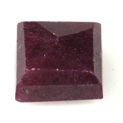 Natural 37.45ctw Ruby Square Stone