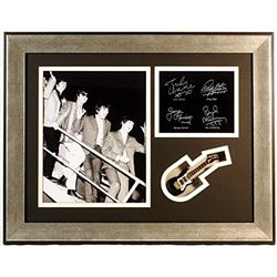 The Beatles   Giclee, mini guitar & engraved signatures