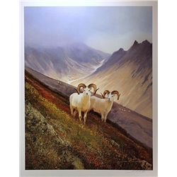 Michael Coleman Mix Media Litho/Serigraph  Mt. Goats