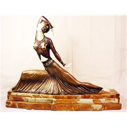 Clara - Bronze and Ivory Sculpture by Chiparus