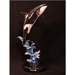 Bronze Sculpture - King of the Sea/ Orca by P. George
