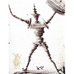 Illustration of Don Quixote- Dali - Limited Edition on Canvas