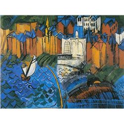 Sailing Boats at Saint-Adresse - Raoul Dufy - Limited Edition On Canvas