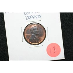 1943-D Lincoln Wheat Back Penny; Copper Dipped