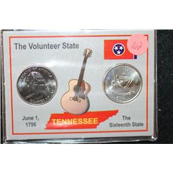 2002 Tennessee State Quarter Set; P&amp;D Mints