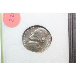 1960-P Jefferson Nickel; INB Graded MS70