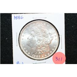 1886 Silver Morgan $1; BU