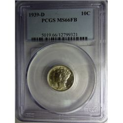 1939-D MERCURY DIME PCGS MS66FB CHERRY!