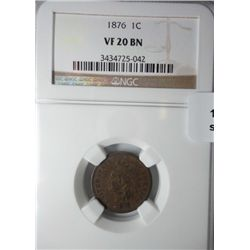 1876 Indian penny  NGC20
