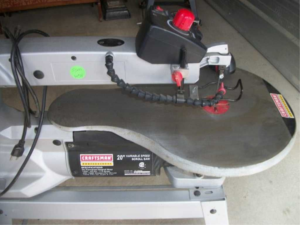 Image 2 Sears Craftsman Pro Scroll Saw 20 Inch Variable