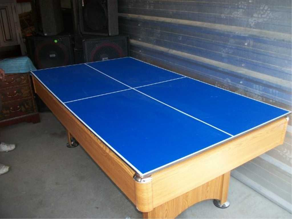 46in · Image 2 : Wood Pool Table/ping Pong Table. Table Needs Repair.