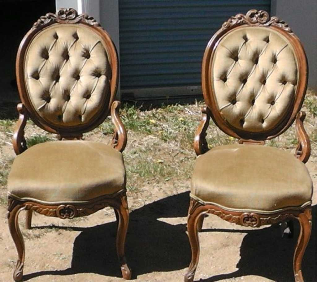 Image 1 : 2 Antique Victorian Chairs . - 2 Antique Victorian Chairs .