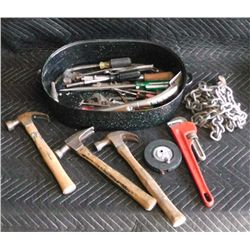 #1 Bucket of Tools: Chain, Pipe Wrench, Hammers .