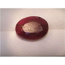 Natural Ruby, 5.30 carats, enhanced, 12 x 10 mm +/-, India