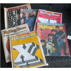 5 Old Rolling Stones Magazines .