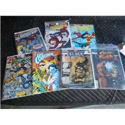 7 Comic Books, Street Fighter II, Cringe, Lost Continent, 4 Spiderman