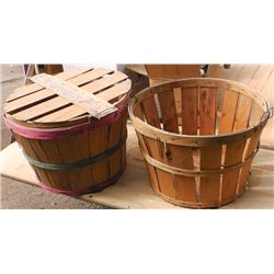 2 Wood Apple Baskets .