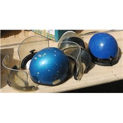 2 Motor Cycle Helmets .