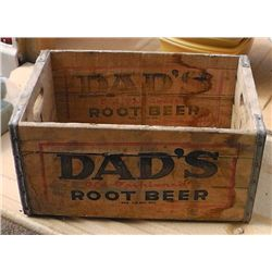 Dads Root Beer Wood Crate .