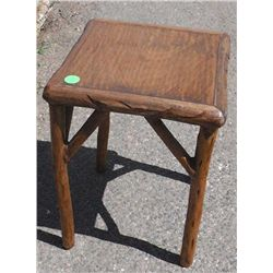 Solid Wood End Table w/ Veneer Top