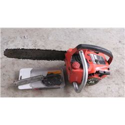 "Homelite XL 16"" chain saw, runs, w/ Extra Chain and File and Bar Oil"