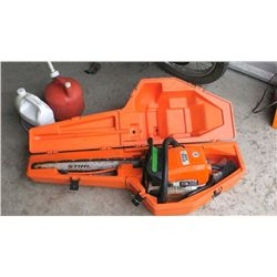"Stihl 029 Chain Saw, 24"" Bar, w/ Case, Bar Oil and Gas Can, Runs"