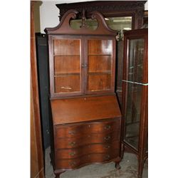 GOVERNOR WINTHROP DESK WITH SERPENTINE FRONT