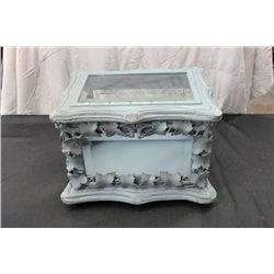GREAT PAINTED DISPLAY CASE W/ BEVELED GLASS