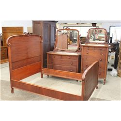 3 PIECE MAHOGANY BEDROOM SET