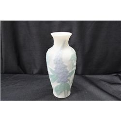 SATIN GLASS PUFFY VASE