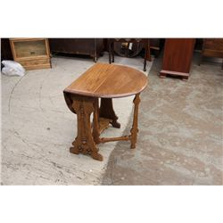 OAK SWING LEG TABLE SIGNED PAINE FURN.