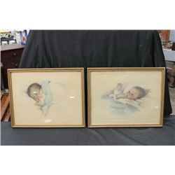 MATCHING PAIR BY BESSIE PEASE GUTMANN SIGNED