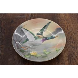 EARLY GAME PLATE BY BLAKEMAN & HENDERSON - LIMOGES FRANCE