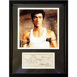 Bruce Lee   Giclee with  Image of  real check