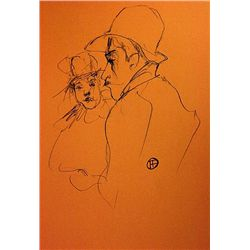 Toulouse Lautrec  pencil drawing