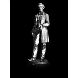 Original Fine Silver Sculpture - Abe by D. Volk