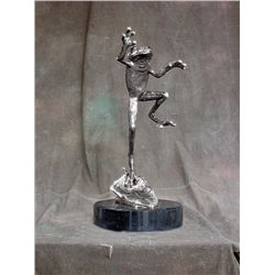 Original Fine Silver Sculpture - On The Fly by Whitten