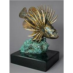 Bronze Sculpture - Lion Fish by J. Townsend