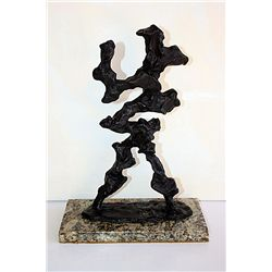 Andreas Urteil  Original, limited Edition  Bronze - Der Fechter, 1960
