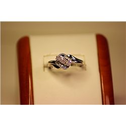 Lady's Fancy 14kt White Gold Diamond Promise Ring