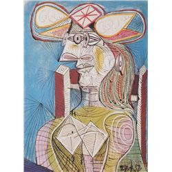 Seated Woman I- Picasso- Limited Edition on Canvas