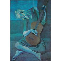 The Old Blind Guitar Player- Picasso- Limited Edition on Canvas