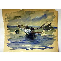 Winslow Homer Original Watercolor on Paper -