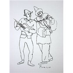Picasso Lithograph-  TWO MUSICIANS